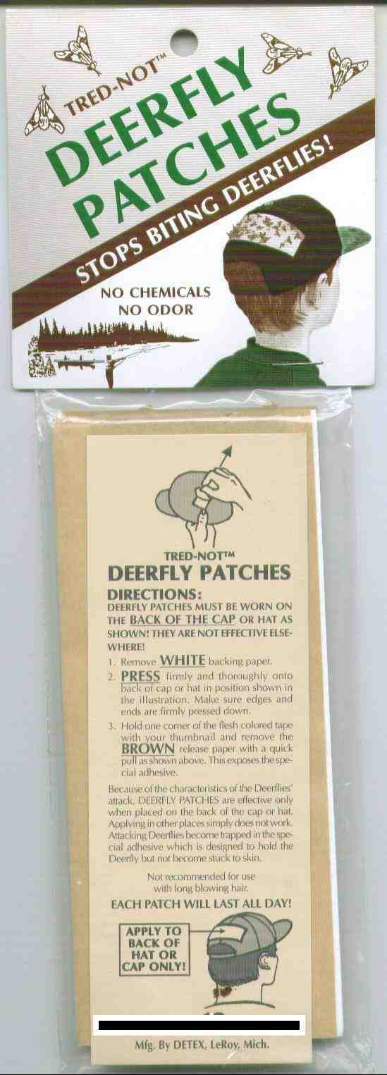 80 / Pk Deerfly Patches/TredNot Deer Fly Patch''Repellent''