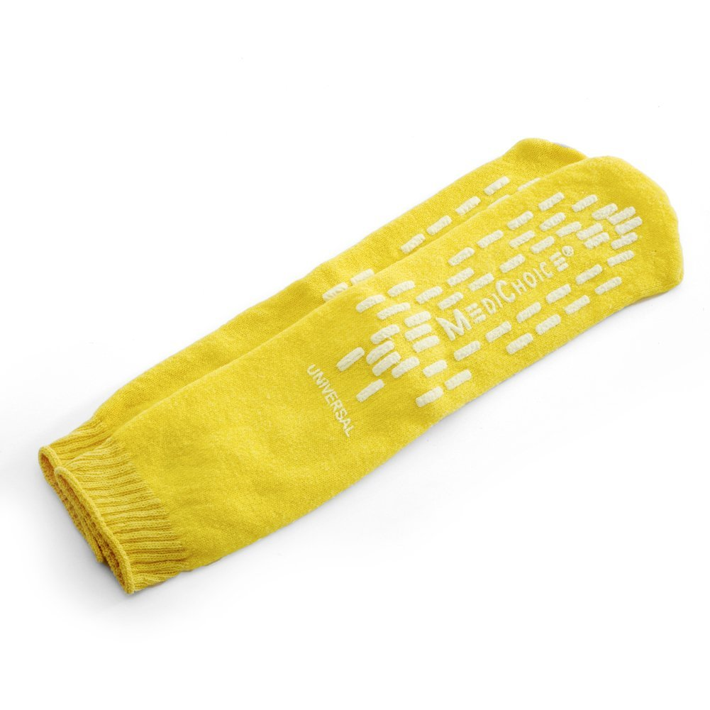 MediChoice Terry Cloth Slippers, Double Tread, Universal, Yellow, 1314SLP01UY (Case of 48 Pairs - 96 Total)
