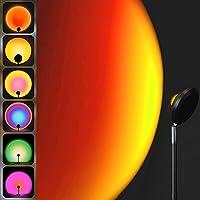 Kallrra Sunset Lamp, Sunset Projection Lamp, Lampara USB LED Colores Rotación 180°, Lampara de Atardecer con Mando…