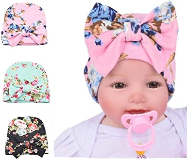 Newborn infant baby girl hat,comfy girl big bow beanie,baby clothes,baby shower