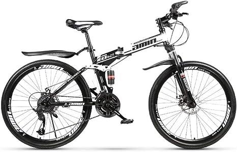 Bicicleta de montaña Bicicleta de carretera robusta Bicicleta de pista urbana plegable de 24 velocidades Cambio de 24 pulgadas Estudiantes masculinos y femeninos Amortiguador de doble choque Adult: Amazon.es: Deportes y aire