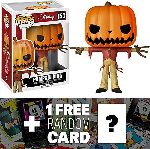 Pumpkin King Jack Skellington: Funko POP! Tim Burton's The Nightmare Before Christmas Vinyl Figure + 1 FREE Classic Disney Trading Card Bundle [58951]
