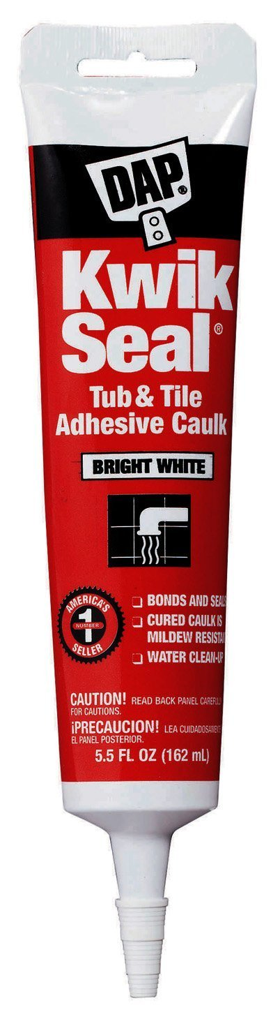 Dap 18001 24 Pack 5.5 oz. Kwik Seal Kitchen and Bath Adhesive Caulk White
