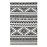 Modway R-1010A-810 Haku Geometric Moroccan Tribal Area Rug, 8X10, Black and White