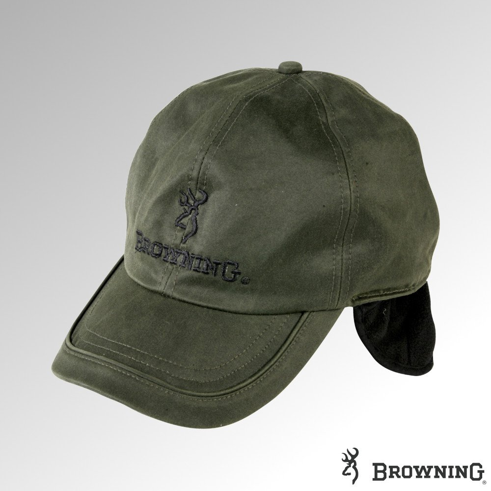 Browning berretto invernale in pile foderato cera W//paraorecchie verde 308984