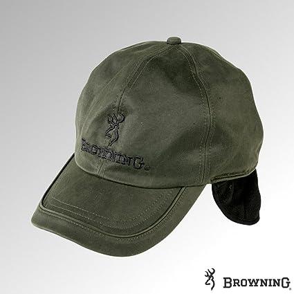 Browning gorra cera de invierno con forro polar W/Ear Flaps verde (308984)