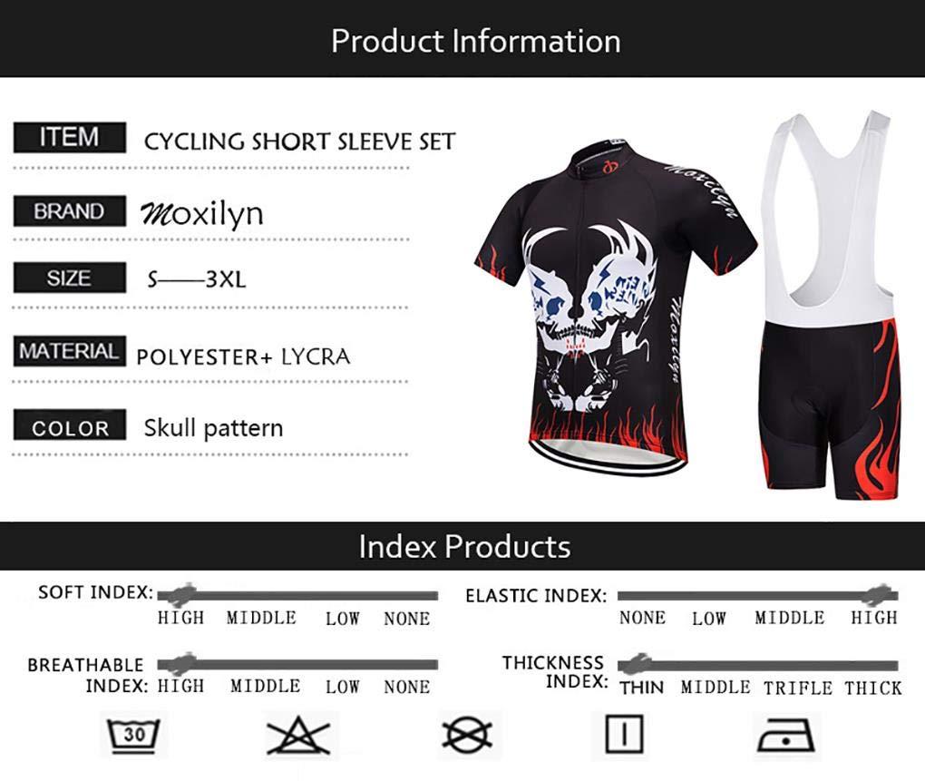 Almohadilla de Asiento de Gel 9D para Montar En Bicicleta Conjunto C/ómodo y De Secado R/ápido Moxilyn Ropa de Ciclismo para Hombre Traje de Bicicleta Conjunto de Verano Top Bib Shorts Acolchados