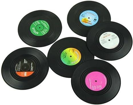 Compra TOOGOO 6pieces / Set Spinning retro del disco de vinilo ...