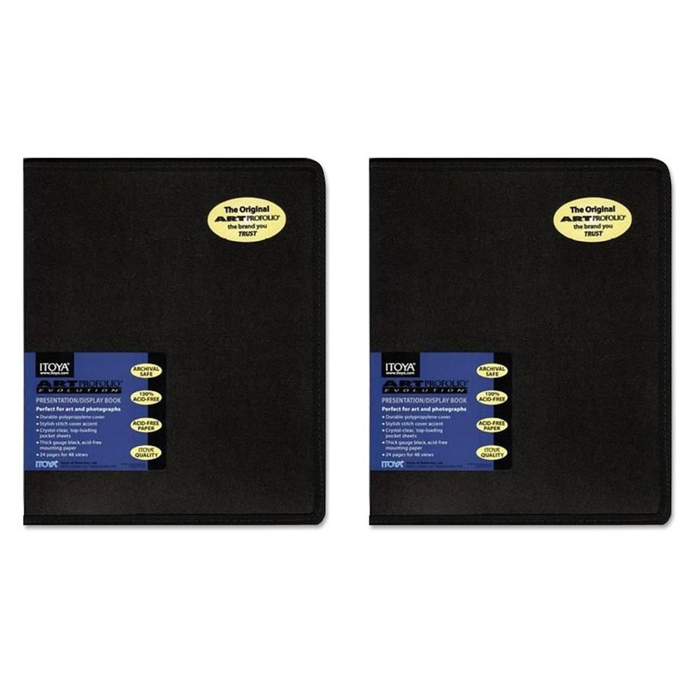 Itoya EV-12-11 Art Profolio Evolution 11x14in. Art Size 24 Sheets for 48 Pictures (Black) (2 Pack)