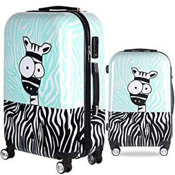 Maleta Dibujos Animados Burro Imprimiendo Hardshell 2 Piezas Spinner Equipaje para niños Anidado Conjunto 20in 24in Maletas de Viaje Maletas para Equipaje ...