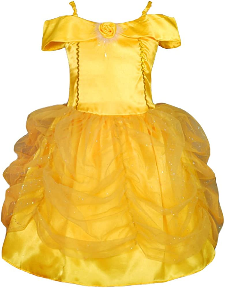 Dressy Daisy Princess Dress Up Costume Gold Yellow Ballgown Fancy Halloween Xmas Birthday Party Carnival