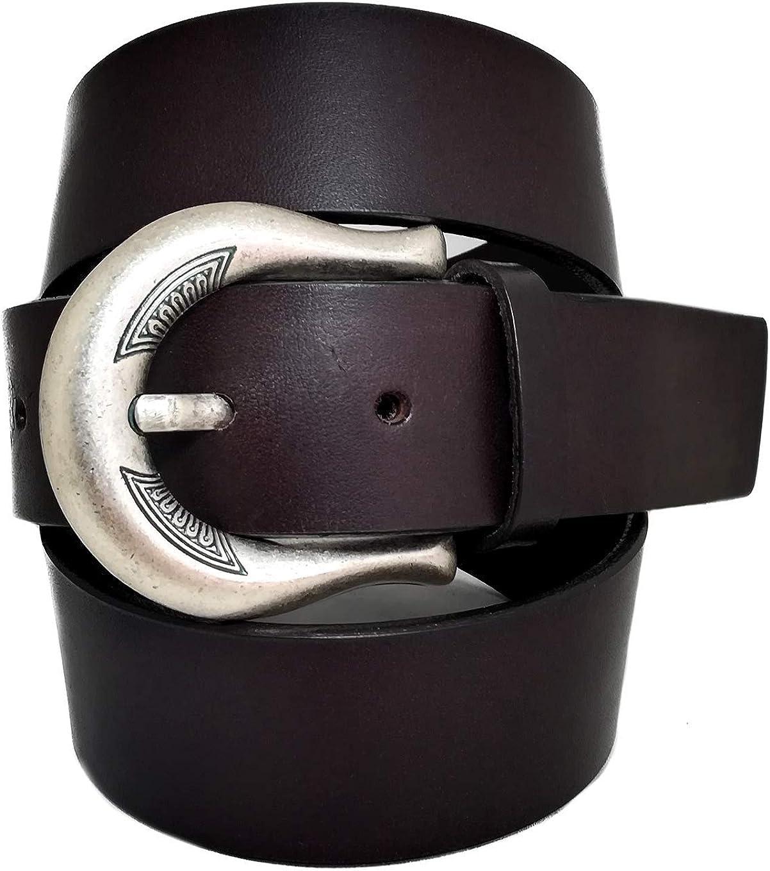 almela - Cinturón de mujer - Piel legítima - 4 cm de ancho - Cuero - 40mm - Vaqueros y Vestidos