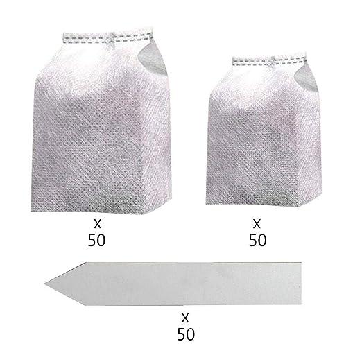 Umiwe 100Pcs Biodegradable No Tejido Bolsas de Plántulas Planta ...