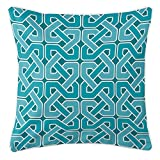 Island Girl Home IGH-P188 Nassau - Spa Day Pillow,Aqua/Teal/Turquoise/White,20x20