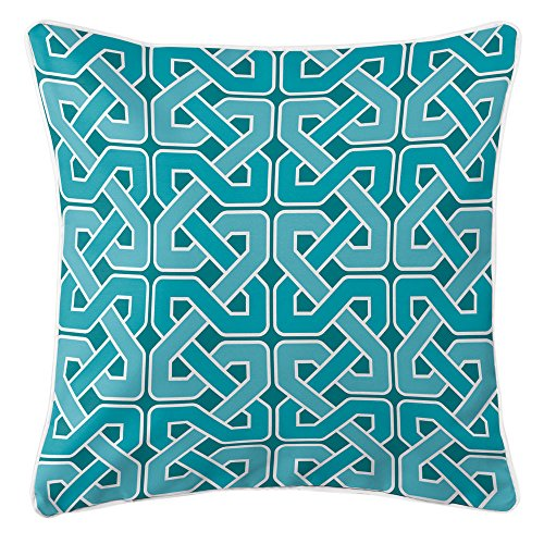 Island Girl Home IGH-P188 Nassau - Spa Day Pillow,Aqua/Teal/Turquoise/White,20x20 by Island Girl Home