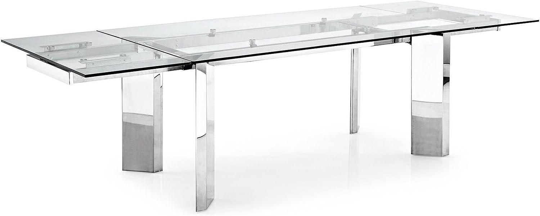 Calligaris Exquisita mesa de comedor de cristal de torre ...