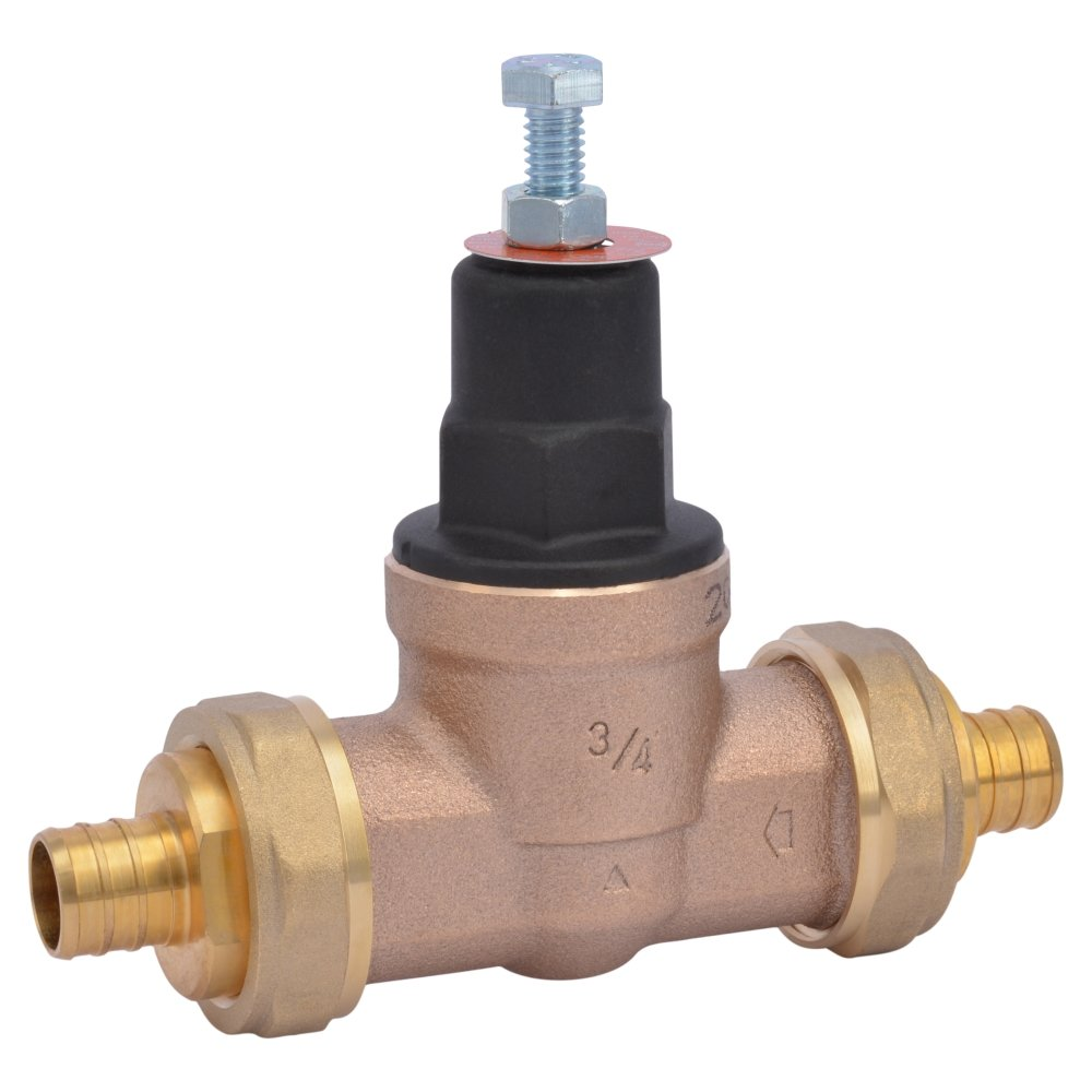 Cash Acme 23891-0045 Pressure Regulator, EB45-DUPE Double Union PEX Ends, 3/4''