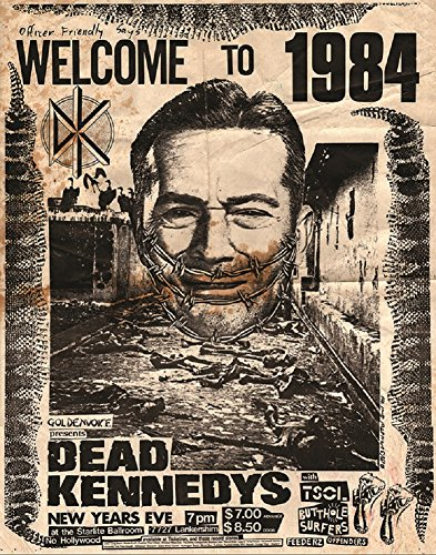 Annex Welcome to 1984 Punk Rock Dead Kennedys Concert Poster Framed Art Print