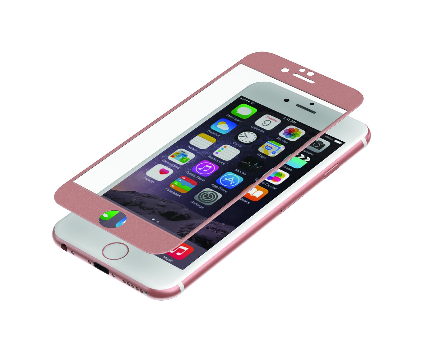on sale 07de6 bf4a8 ZAGG InvisibleShield Glass Luxe Screen Protector - HD Clarity + Reinforced  Screen Protection for Apple iPhone 6 Plus / iPhone 6s Plus - Rose Gold