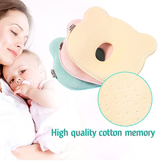 Fanatical Purchase Baby Head Shaping Pillow Newborn Baby Pillow Infant Memory Foam Pillow Pink