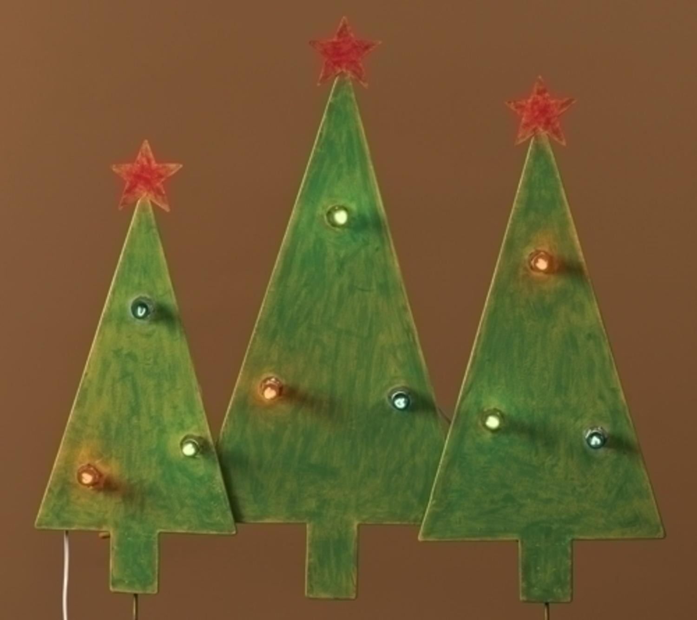 Amazon.com: Christmas Tree Trio Outdoor Lighted Yard Art Decoration ...