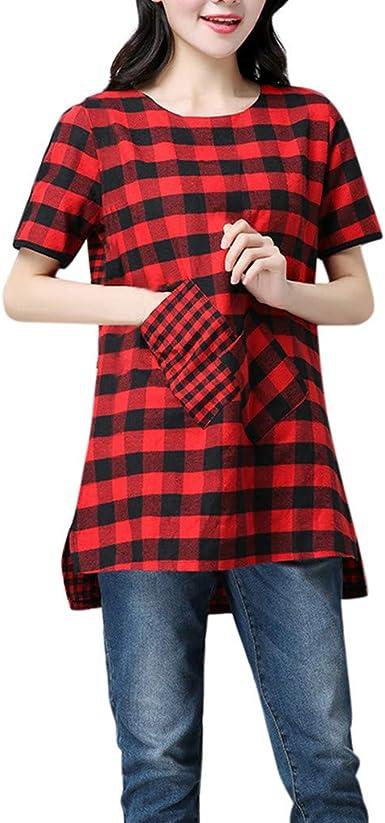 Cocila Blusa Tipo túnica para Mujer, de algodón, Lino, a ...