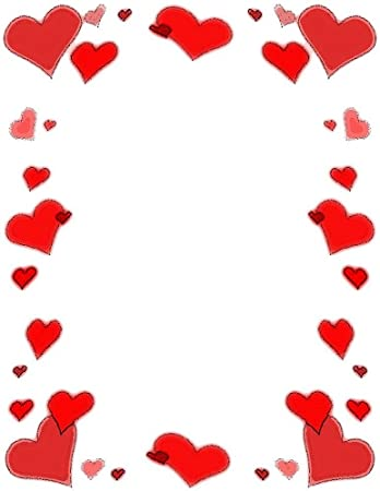 Amazon.com : Valentine Day Red Hearts Stationery Printer Paper 26 ...