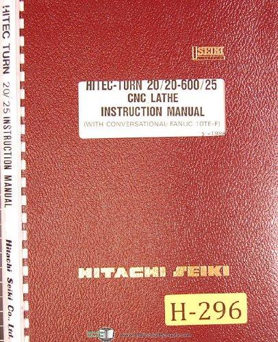 (Hitachi Seiki Hitec-Turn 20/20-600/25, CNC Lathe, Instructions Manual)