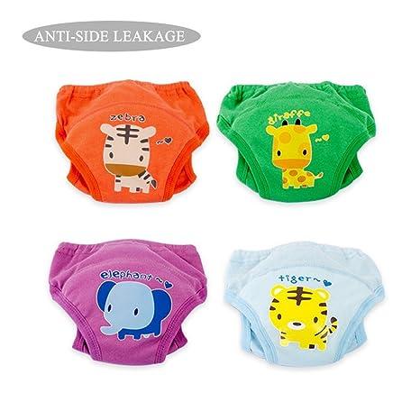 Pantalones de entrenamiento de algodón Ropa interior Niños niñas impermeables, Niño Bebé Paño de tela