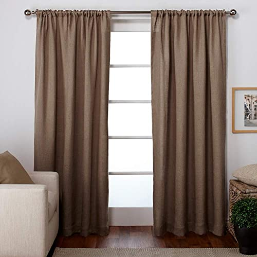 Exclusive Home Curtains Burlap Window Curtain Panel Pair