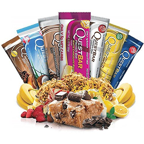 quest protein bars variety pack - 8