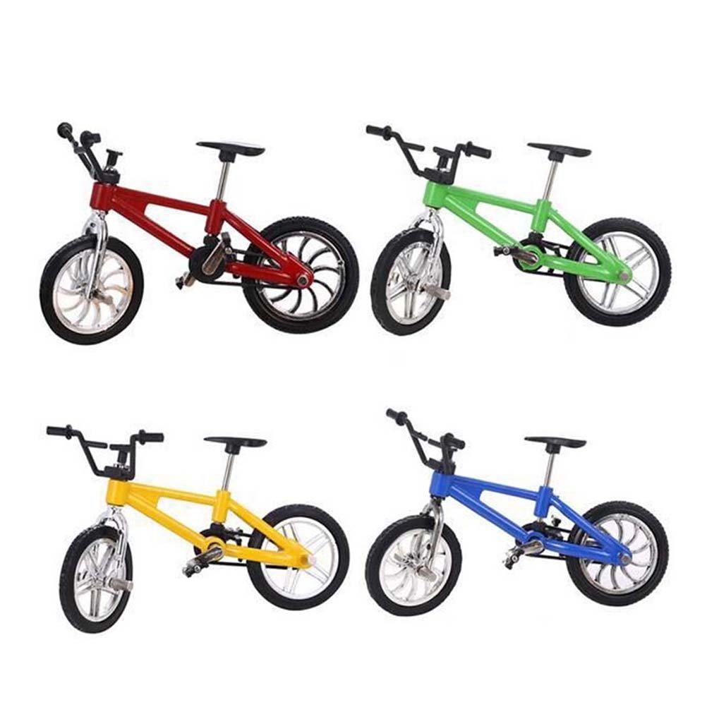 Toyvian Finger Bikes BMX, Finger Mountain Bike, Mini Model Ornaments - 12pcs