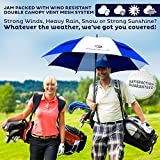 Golf-Umbrella-by-Procella-Umbrella-62-Inch-Large-Auto-Open-Rain-Wind-Resistant-Tested-by-Skydivers