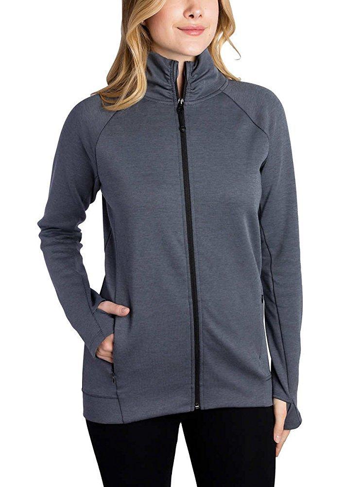 Kirkland Signature Ladies Full Zip Jacket (Dark Gray, Medium) by Kirkland Signature (Image #2)