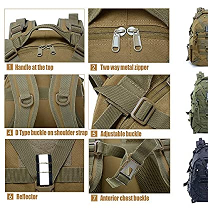 LHI Military Backpack35L 45L Laptop backpack Army Heavy Duty Molle Tactical Backpack Assault Rucksack for Men for Hiking… 5