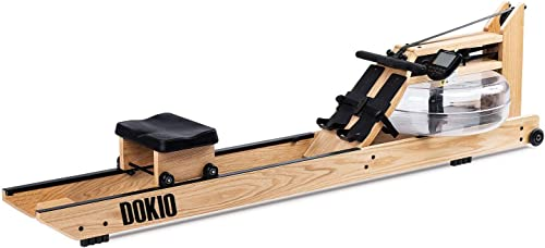 DOKIO Water Rowing Machine Home Wood Gyms Training Equipment Sports Exercise Machine Fitness Indoor Water Rower with Monitor