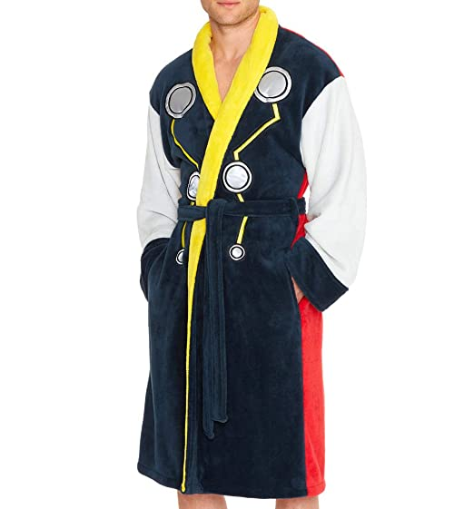 Image Unavailable. Image not available for. Colour  Groovy Uk Mens Thor Dressing  Gown Blue c44f37856