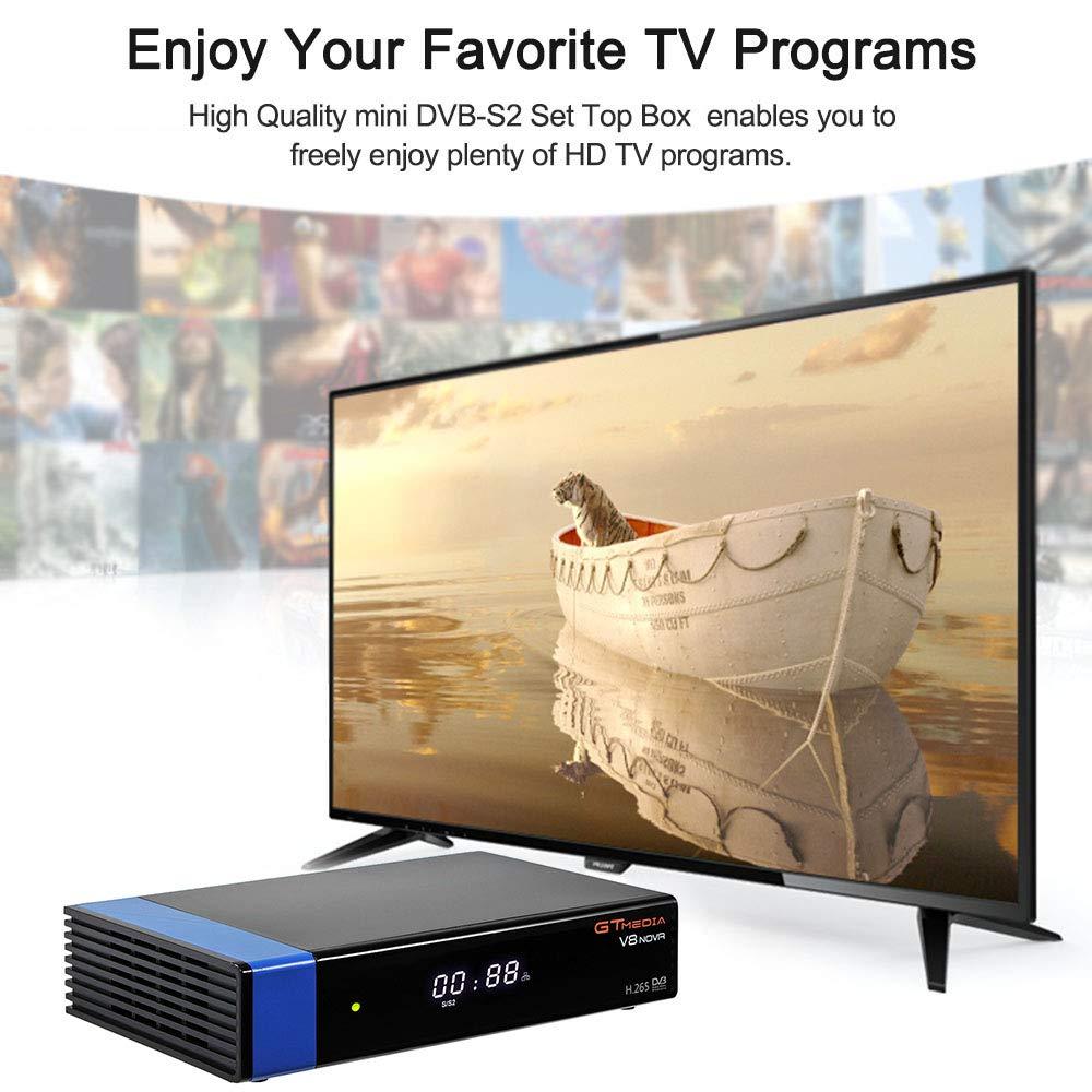 Docooler GTMEDIA V8 NOVA Blue Set Top Box Universal DVB-S2 TV Receiver Digital Video Broadcasting Receiver Full HD 1080P Built-in WiFi Support H.265 EPG by Docooler (Image #4)