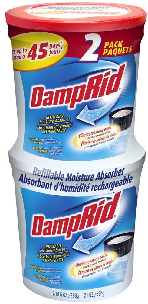 DampRid FG60 Refillable Moisture Absorber, 2-Pack