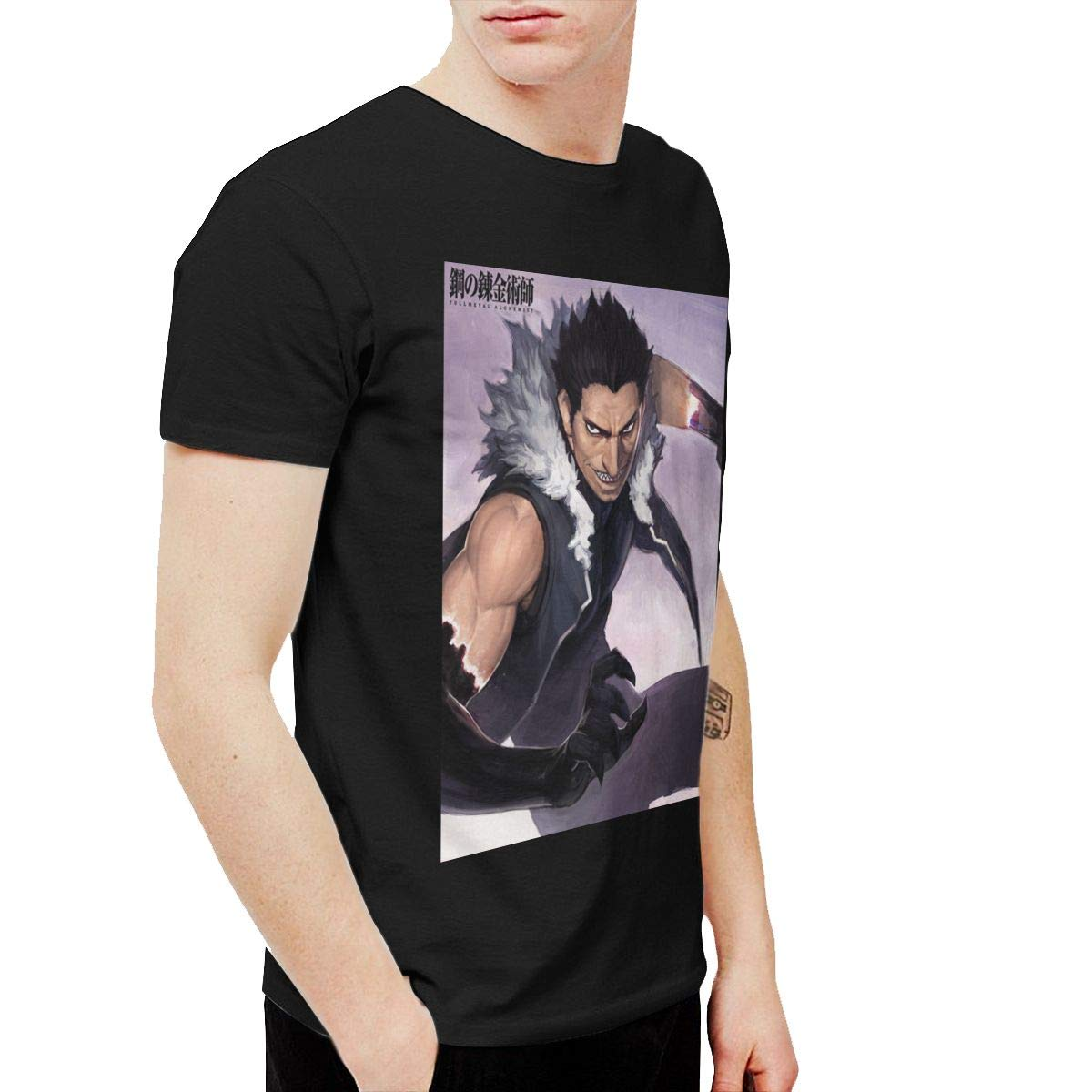 Sipdgxkkza S Fullmetal Alchemist Fashion Running Black Tshirts Short Sleeve