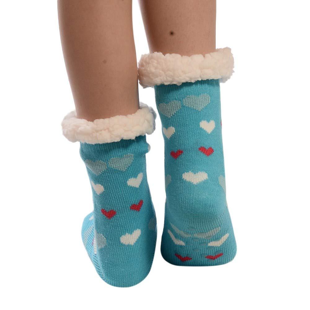 Damen Stern Hüttensocken Kuschelsocken Socken Wintersocken Hausschuhe mit ABS