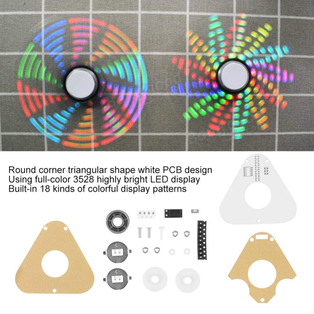 NEW DIY Full Color Rotating POV Kit LED Electronic Kit SMD Learning Practice Kit