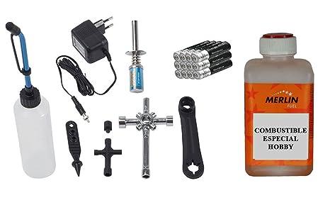 Completo kit de arranque para coches de radiocontrol de gasolina