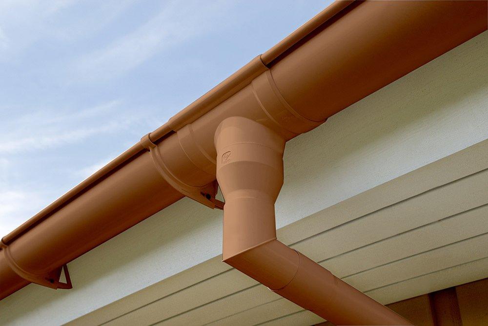 Regenrinne Inefa Rinnenhalter NW 68 Dachrinne Braun kastenf/örmig Kunststoff