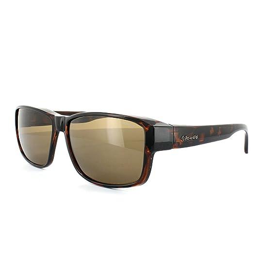 5977c40bb5 Polaroid Suncovers Fitover Sunglasses P8406 0BM IG Dark Havana Brown  Polarized  Amazon.co.uk  Clothing