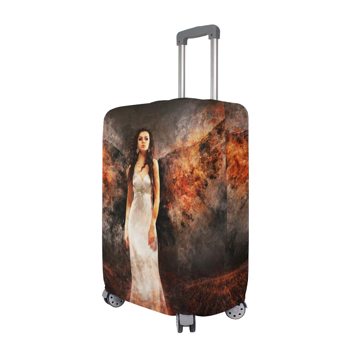 Travel Luggage Cover Angel The Witch Hell Archangel Woman Wing Suitcase Protector Fits 26-28 Inch Washable Baggage Covers
