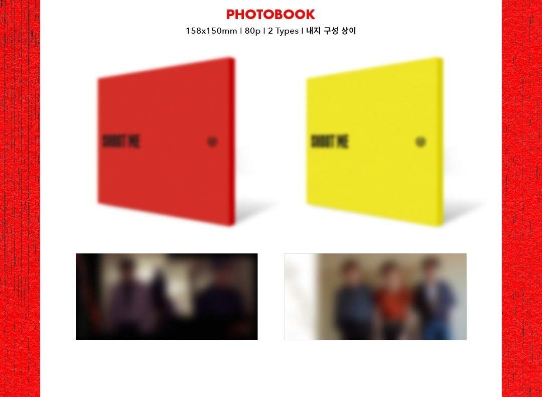 CD+Photobook+Clear Cover+Photocards+Tatoo Sticker+Folded Poster JYP Entertainment DAY6 3rd Mini Album Shoot Me : Youth Part 1 Random ver.