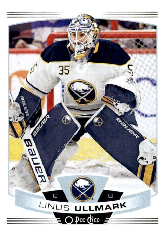 2015-16 Upper Deck Portfolio #232 Linus Ullmark RC Rookie Buffalo Sabres
