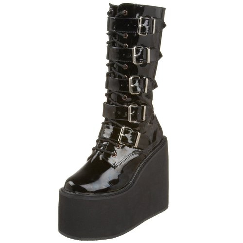 Demonia by Pleaser Women's Swing-220 5 Buckle Platform Boot B00HV9XR2Q 9 B(M) US|Black Pat