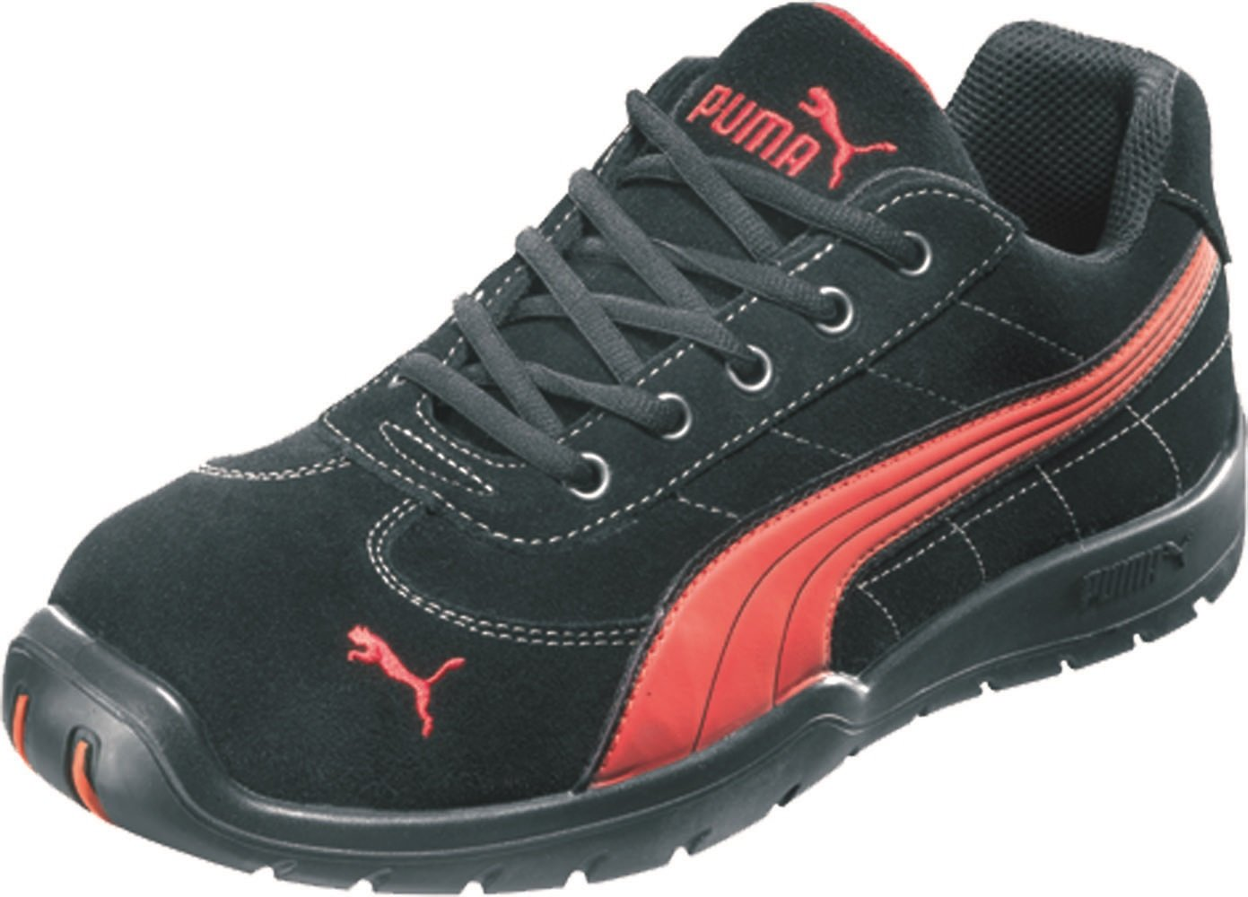 Puma 642630-210-40 Safety Shoes'Silverstone' Low S1P HRO SRC, Size 6.5, black/red